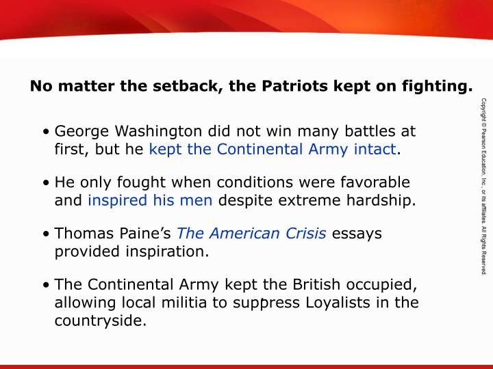 No matter the setback, the Patriots kept on fighting.