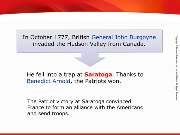 In October 1777, British