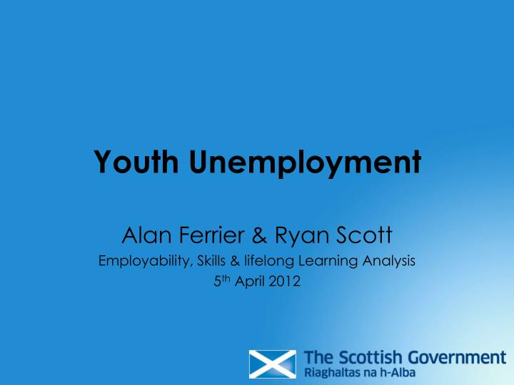 youth unemployment n.