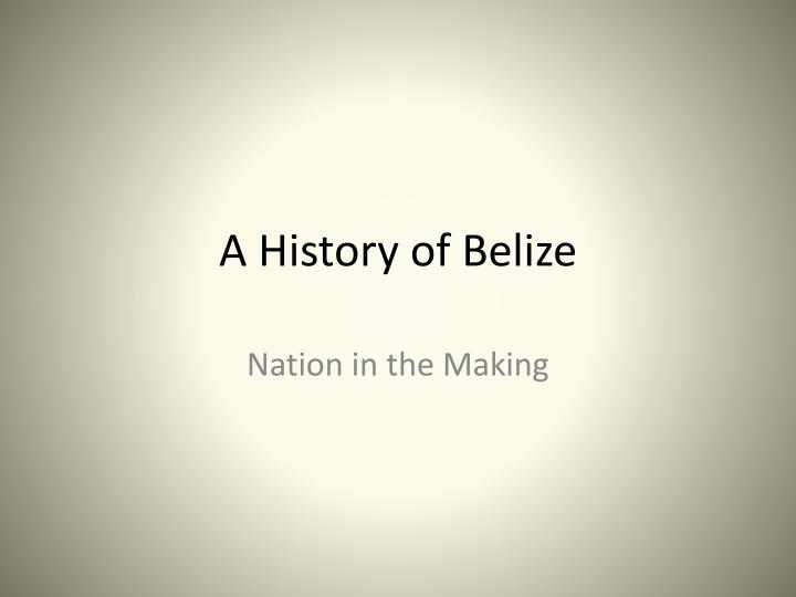 a history of belize n.