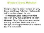effects of shays rebellion