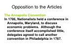 opposition to the articles3