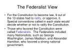 the federalist view