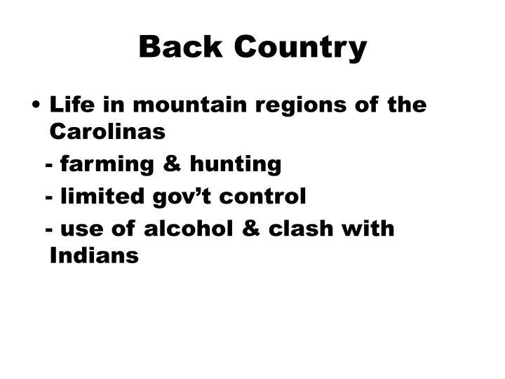 Back Country