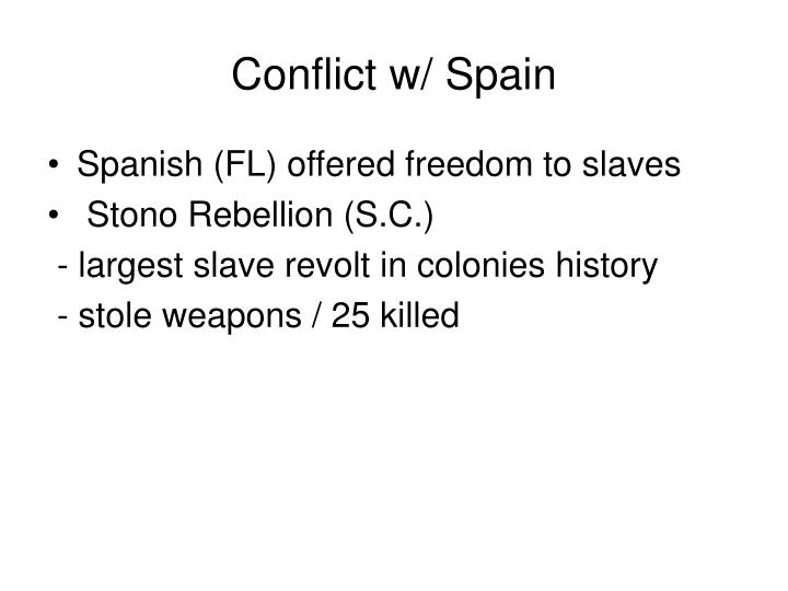 Conflict w/ Spain