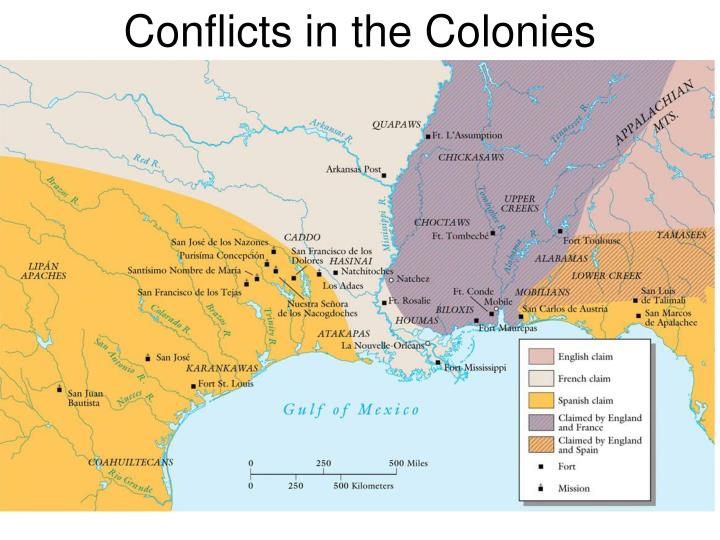 Conflicts in the Colonies