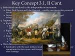 key concept 3 1 ii cont