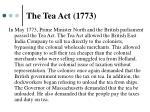 the tea act 17731