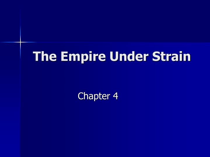 the empire under strain n.