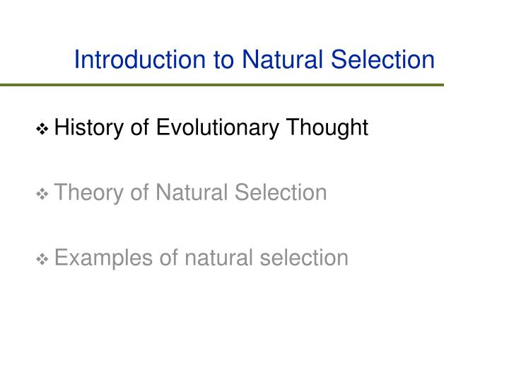 Introduction to natural selection1