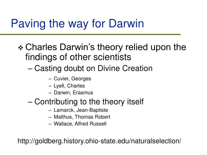 Paving the way for Darwin