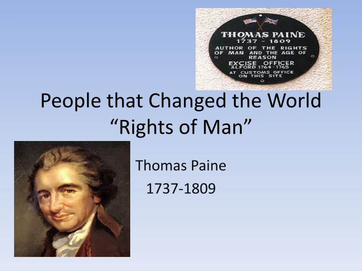 people that changed the world rights of man n.