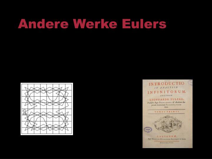 Andere Werke Eulers