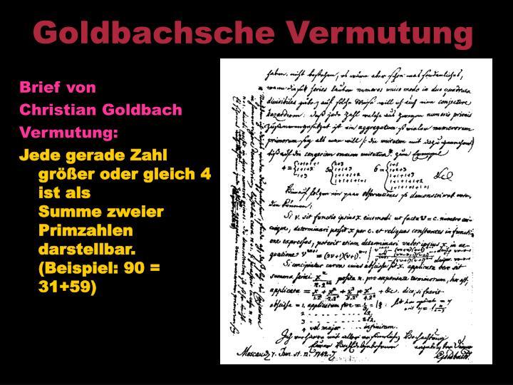 Goldbachsche Vermutung