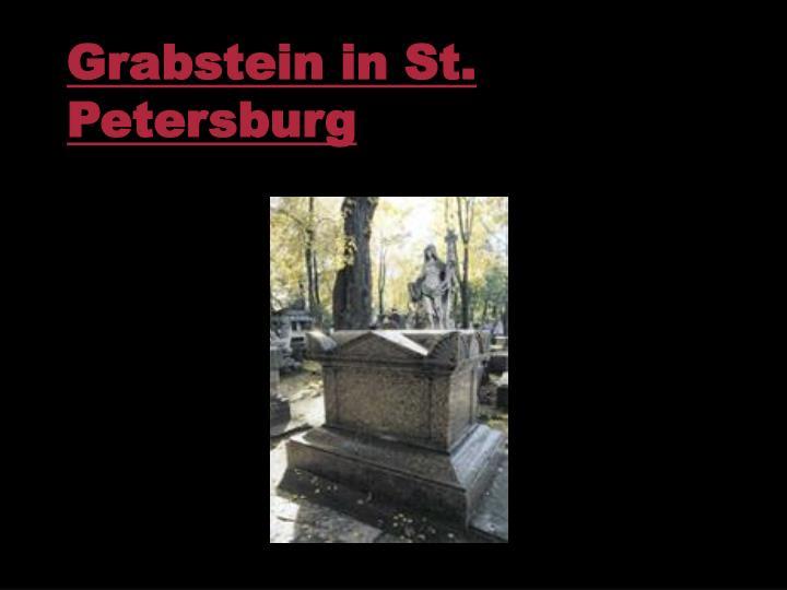 Grabstein in St. Petersburg