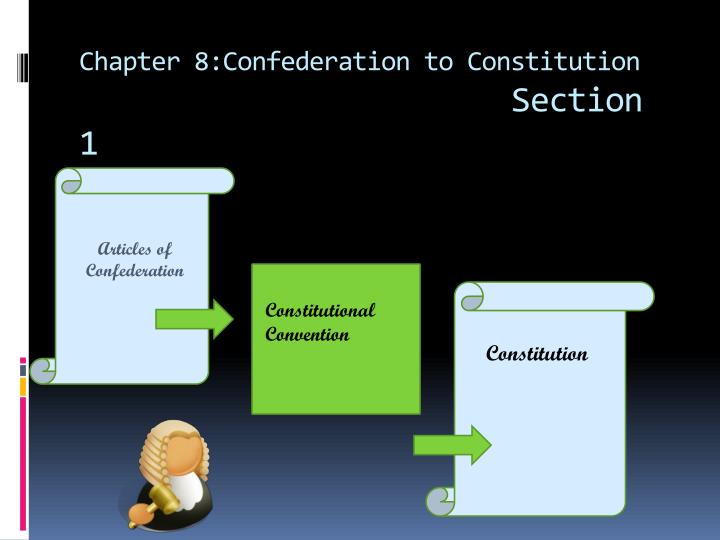chapter 8 confederation to constitution section 1 n.