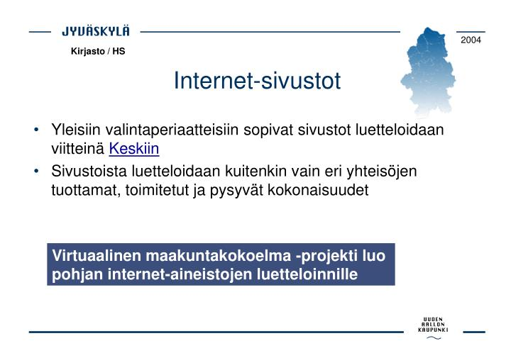 Internet-sivustot