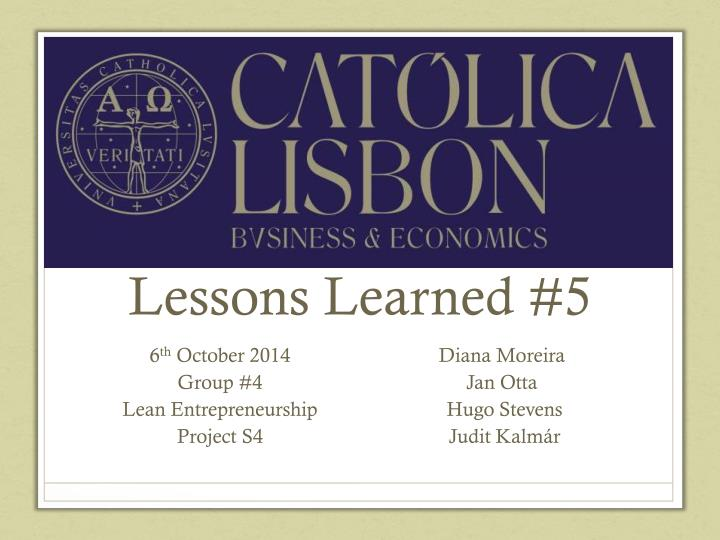 lessons learned 5 n.