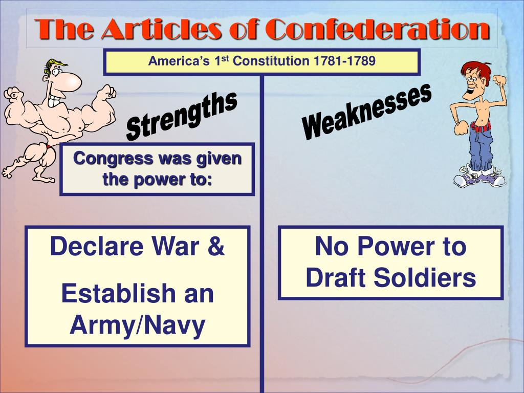 what was the biggest weakness of the articles of confederation