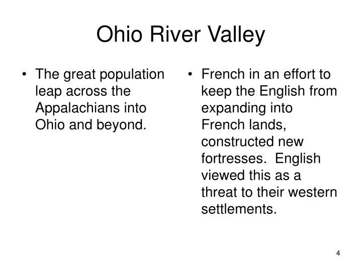 The great population leap across the Appalachians into Ohio and beyond.