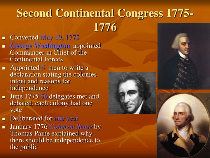 Second Continental Congress 1775-1776