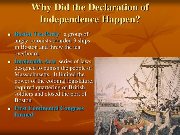 Why Did the Declaration of Independence Happen?