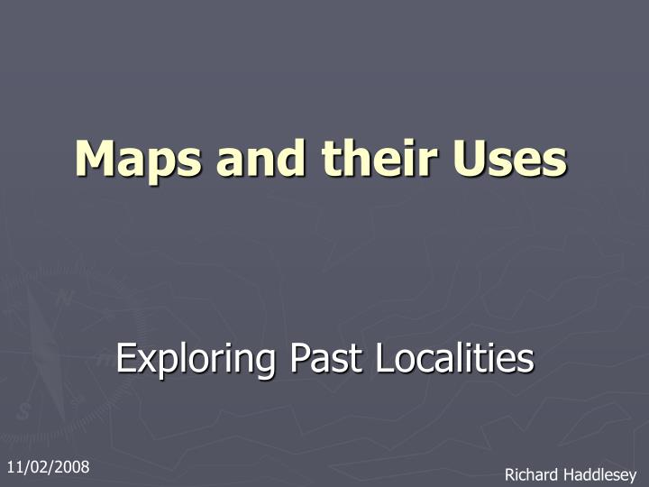 maps and their uses n.