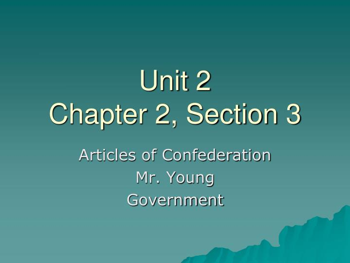 unit 2 chapter 2 section 3 n.