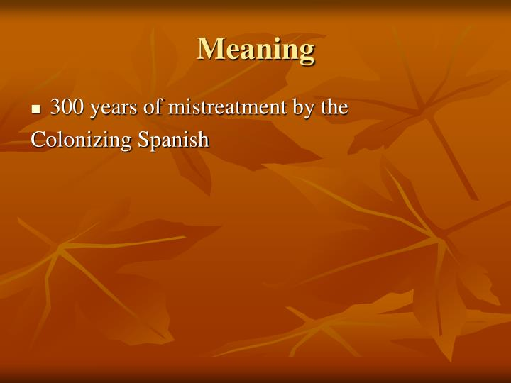 Meaning