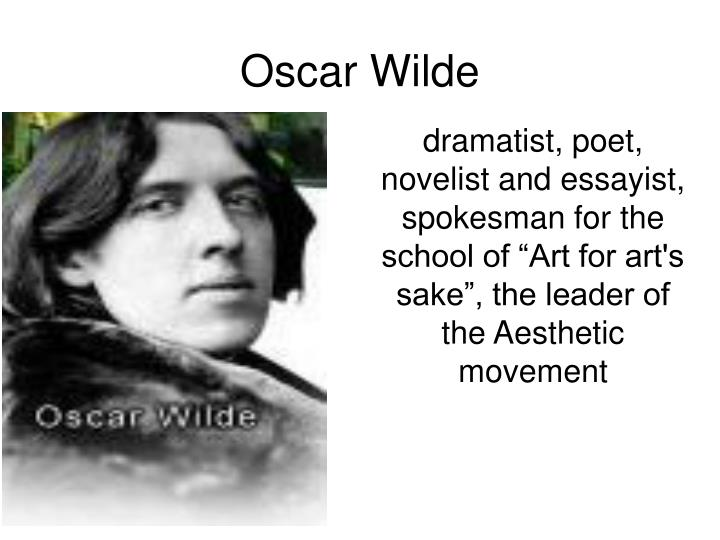 oscar wilde established himself as a leader and model of the aesthetic movement