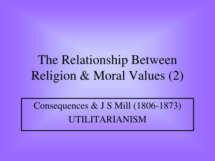 the relationship between religion moral values 2 n.