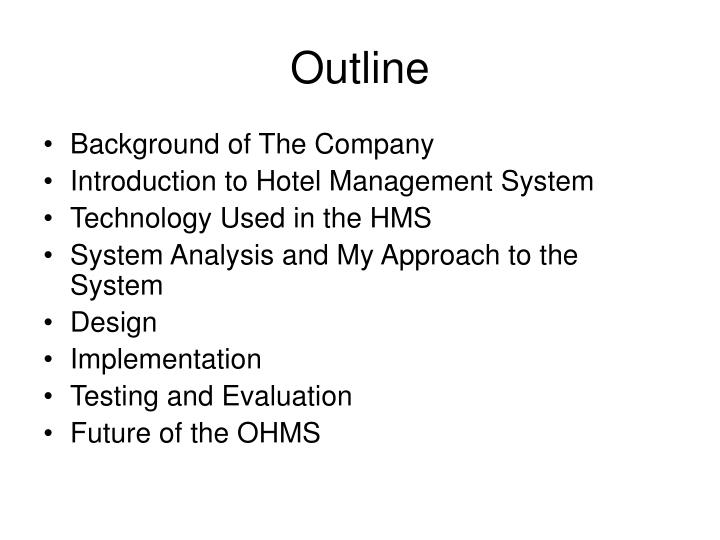 Ppt Hotel Management System With Online Environment For Hotel