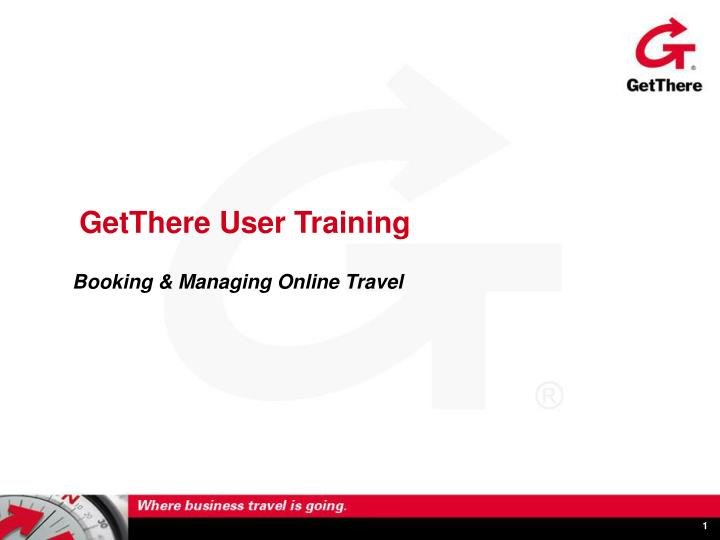 getthere user training n.