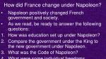 how did france change under napoleon
