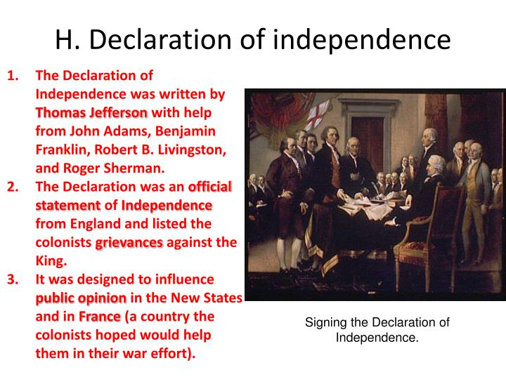 declaration of independence from parents My personal declaration of independence and for the support of this declaration, with a firm reliance on the guidance of divine providence.