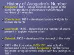 history of avogadro s number