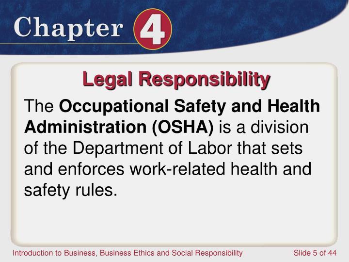 Legal Responsibility