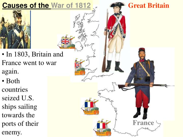 cuases of the war of 1812 Causes of the war of 1812 the war of 1812 was fought between the united states and great britain from june 1812 to the spring of 1815 (findling, 15) when the war began, it was being fought by the americans to address their grievances toward the british, though toward the end, the issues eventually were unjustified and reasons manipulated.