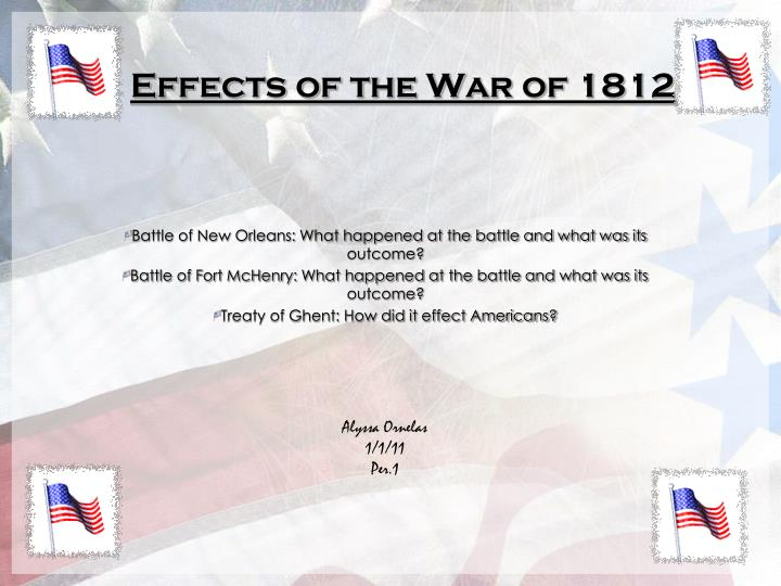 effects of the war of 1812 n.