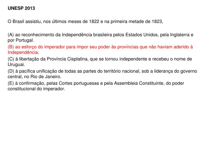 UNESP 2013