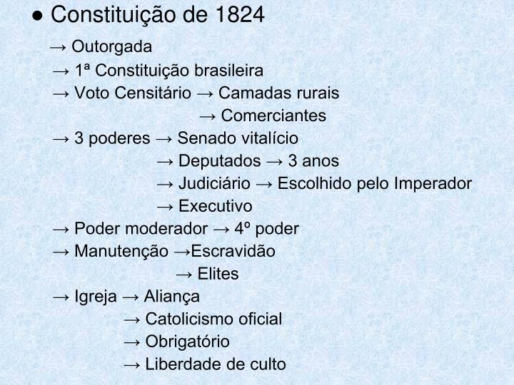 ● Constituição de 1824