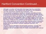 hartford convention continued