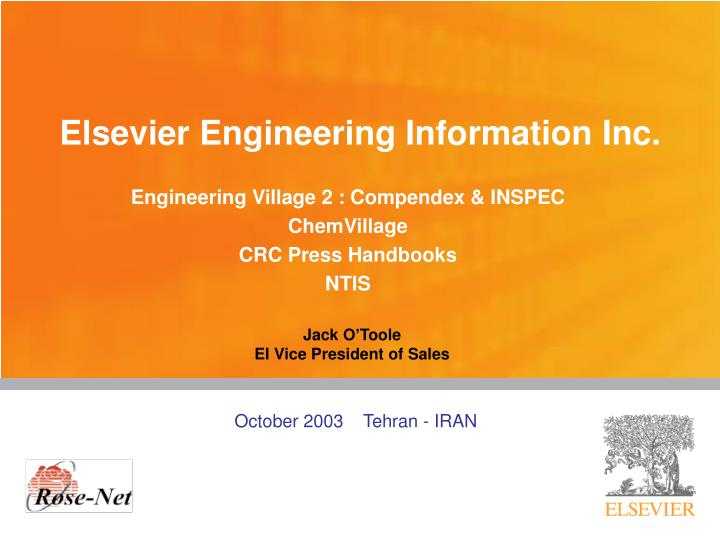 PPT - Elsevier Engineering Information Inc  PowerPoint
