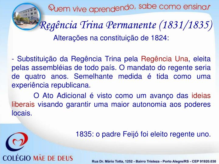 Regência Trina Permanente (1831/1835)