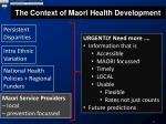 the context of maori health development
