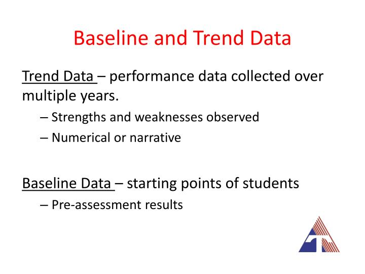 Baseline and Trend Data