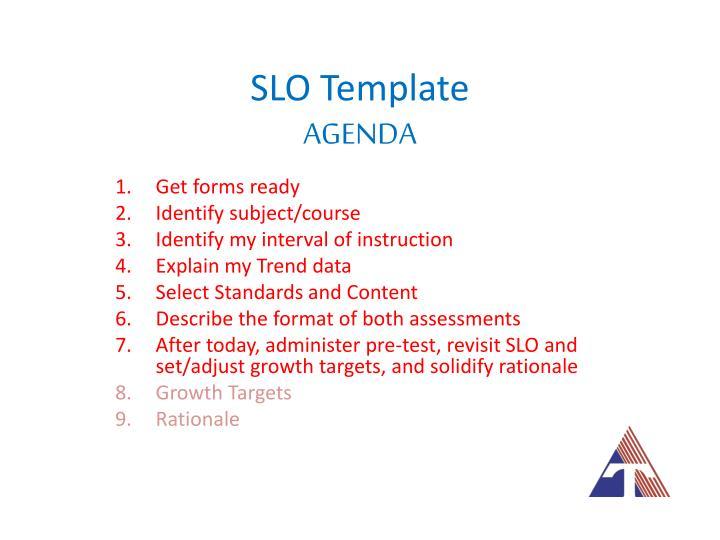 Slo template agenda