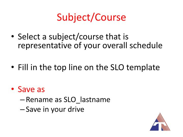 Subject/Course