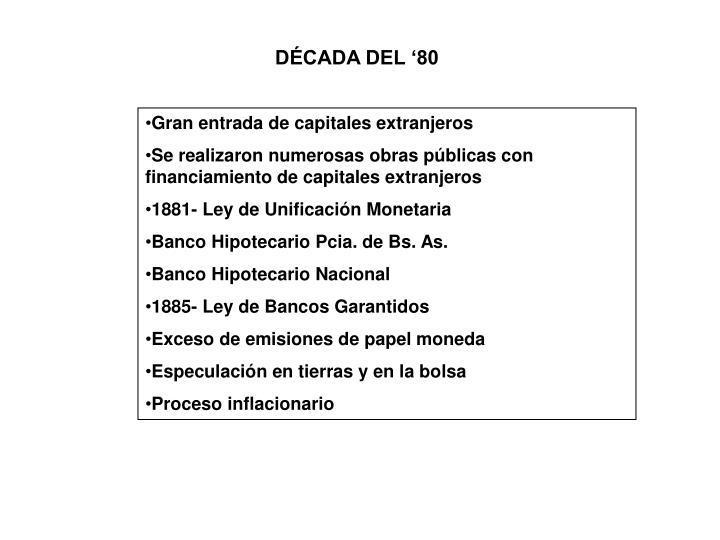 DÉCADA DEL '80