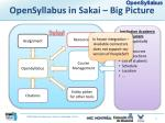 opensyllabus in sakai big picture